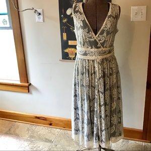 Romantic Lace Overlay Dress